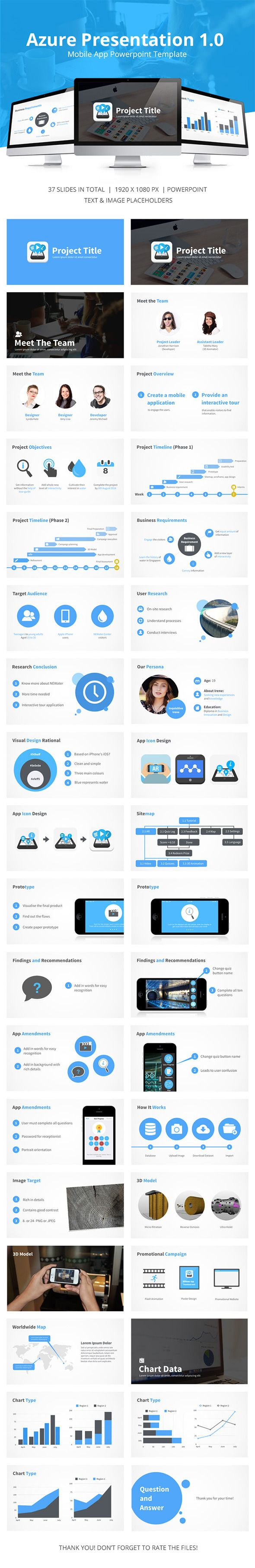 GraphicRiver Azure Mobile App Presentation 12748397