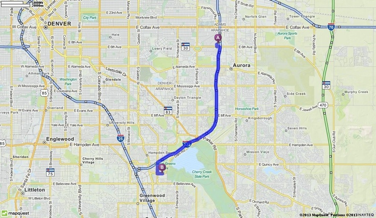 Driving Directions from The Medical Center of Aurora in