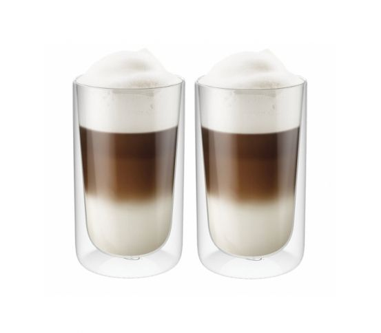 Alfi - szklanka z podwójnymi ściankami GlassMotion. cafe latte, kawa latte, do kawy, szklanki, kawa z mlekiem, oryginalna szklanka, szkło stołowe