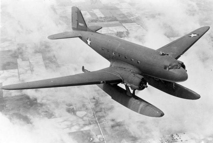 history-museum: An experimental Douglas XC-47C Floatplane variant, 1944.