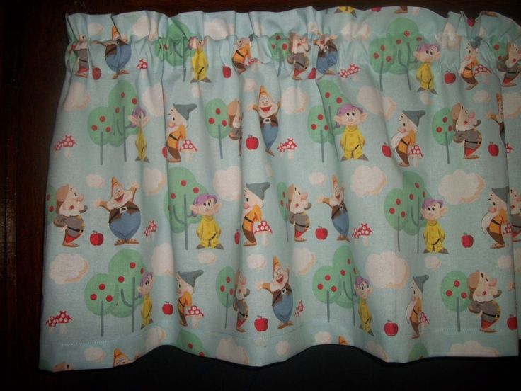 Snow white and the seven dwarfs baby nursery fabric topper for Nursery fabric sale