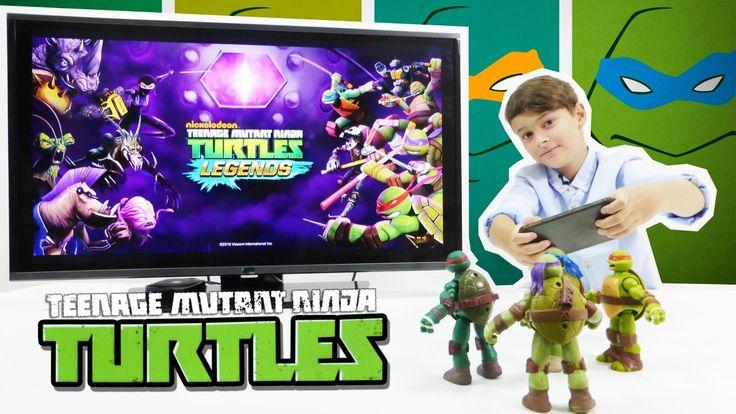 Видеообзор мобильной игры для мальчиков про черепашек-ниндзя: ЧЕРЕПАШКИ-...