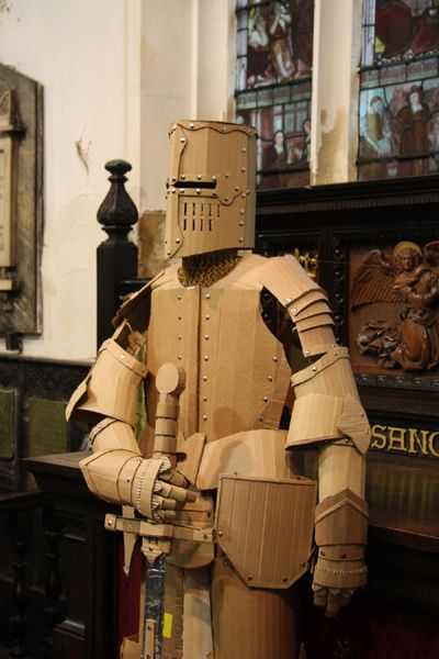 Cardboard suit of armour by mark_obrien, via Flickr