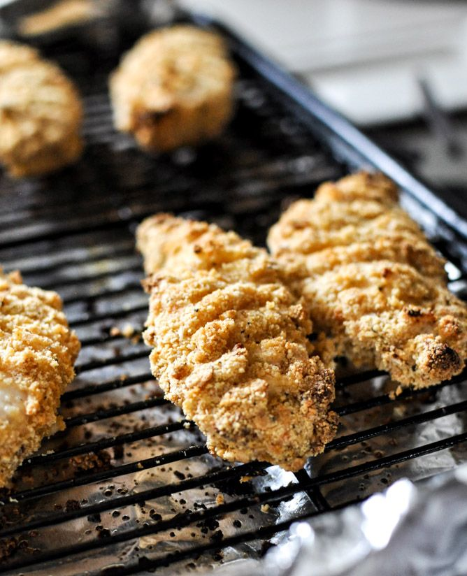 Buttermilk Almond Crusted Chicken Fingers