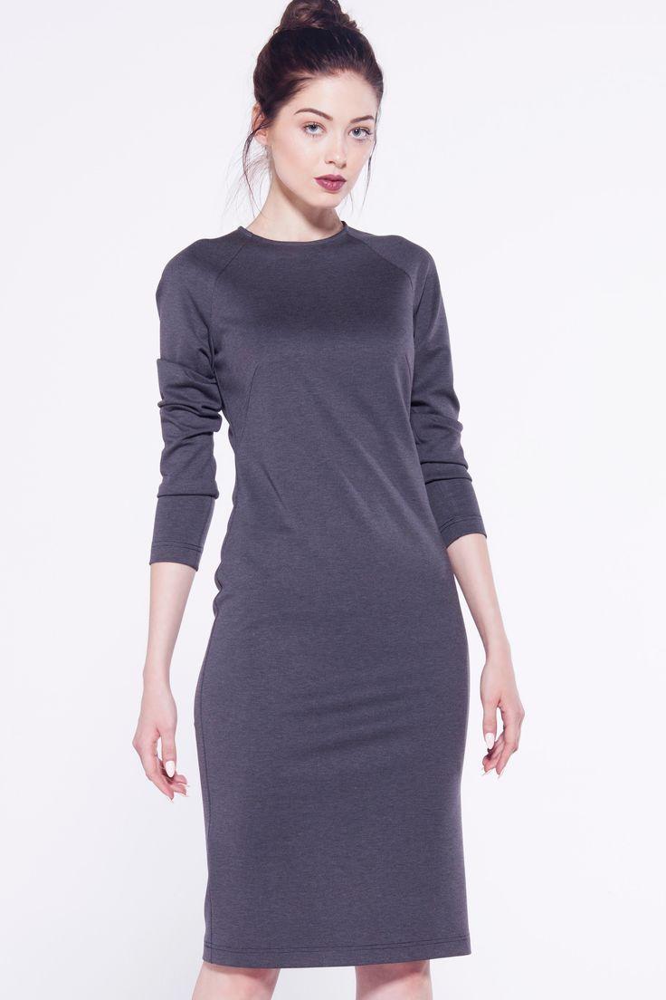 furellefashion #dress #grey #sheathdress #