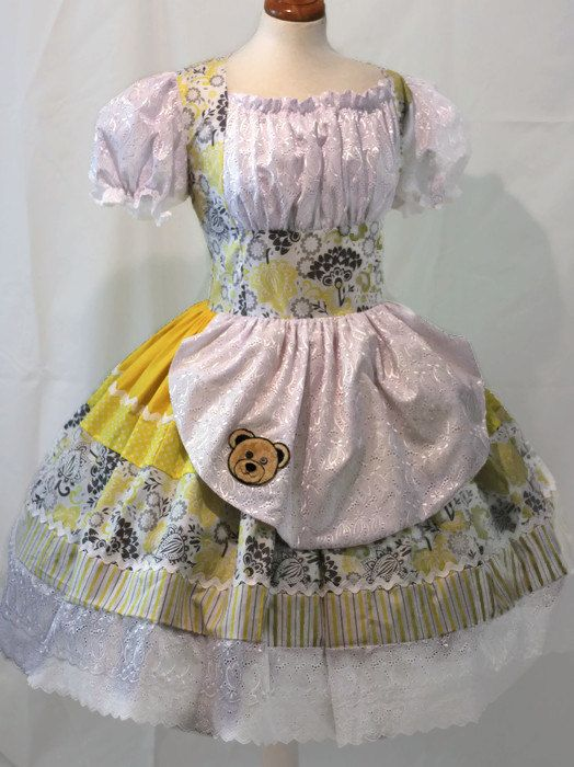 Goldilocks Dress Yellow Storybook Fairytale Couture by MGDclothing