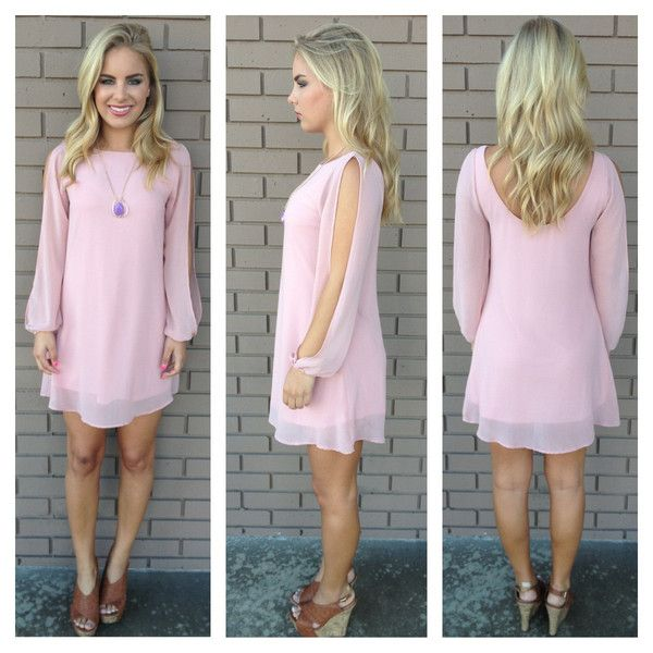 Rose Pink Long Sleeve Chiffon Dress. A little on the Springy side but I love it! Dainty Hooligan