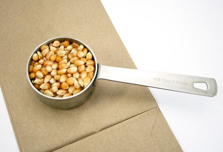 We've got a Supermom Secret to share today — you never have to buy microwave popcorn again! Add 1/3 cup popcorn kernels to a brown paper bag, fold the bag over twice then heat in a microwave — folded side down — for 2 minutes. THAT'S IT! Fresh popped popcorn without any fuss, ready for you to flavor as desired or eat completely bare.