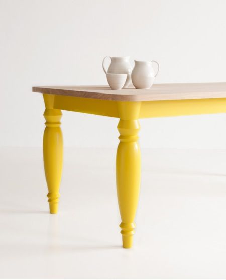 How is it possible that this table actually makes me go weak at the knees? Maybe because it's named after me! Mrs B Table with painted legs - Benchmark Furniture