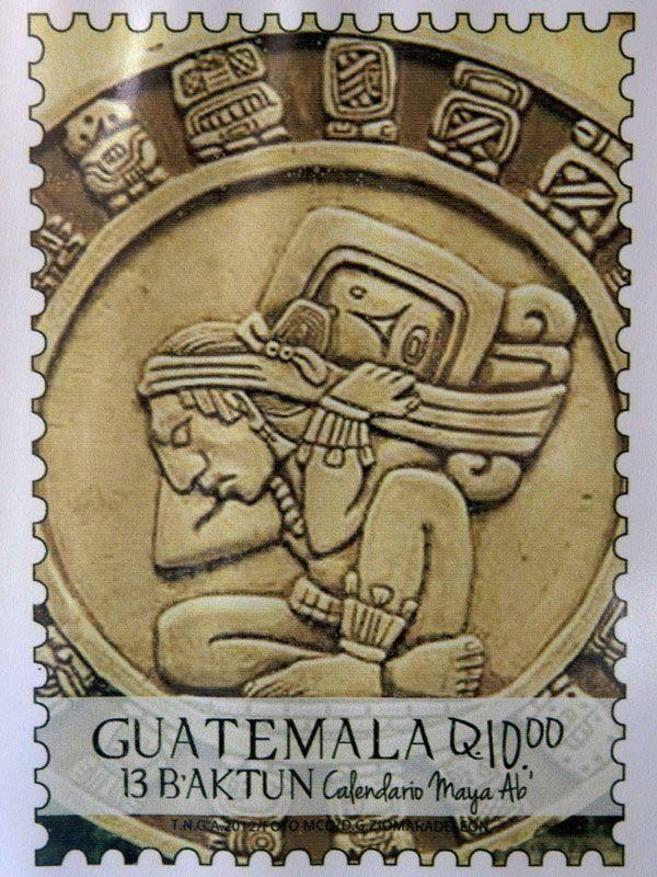 Los sellos postales del fin del mundo maya