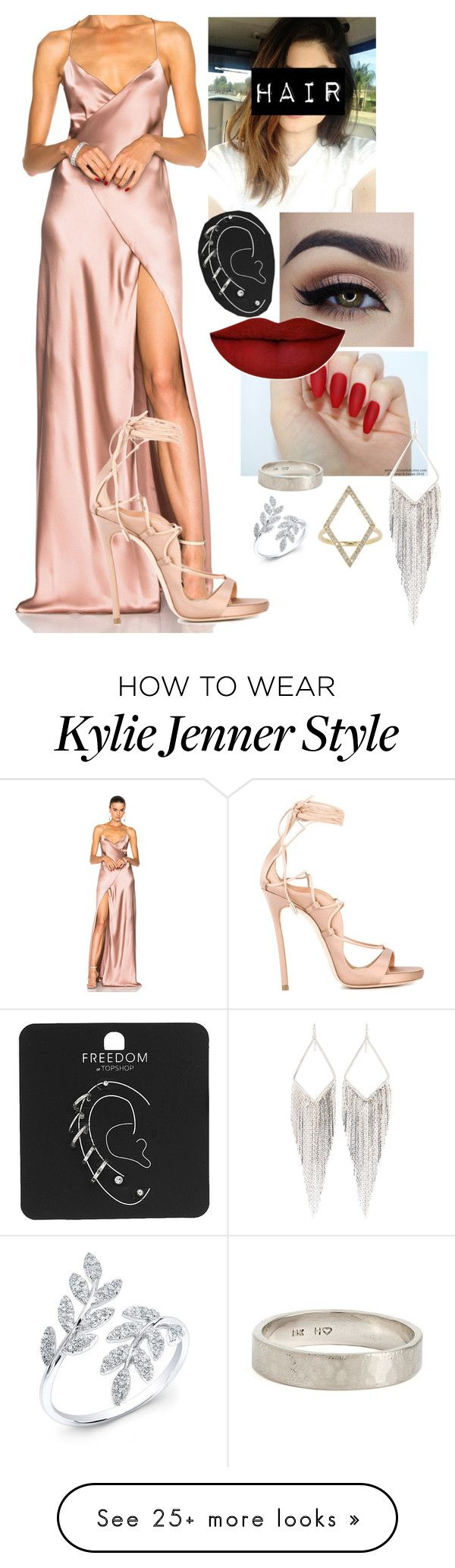 """""""Sem título #3353"""" by jottaeme on Polyvore featuring Michelle Mason, Dsquared2, Anastasia Beverly Hills, WWAKE, Anne Sisteron, Jennifer Meyer Jewelry, Jules Smith and Topshop"""