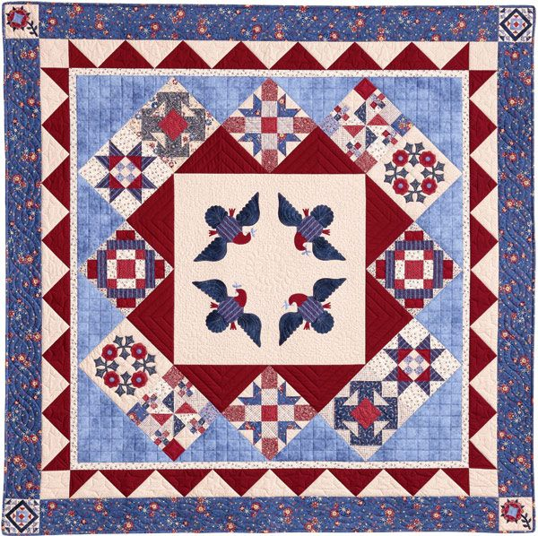 156 best Red/ White/ Blue/QUILTS USA images on Pinterest | Blue ... : quilts usa - Adamdwight.com