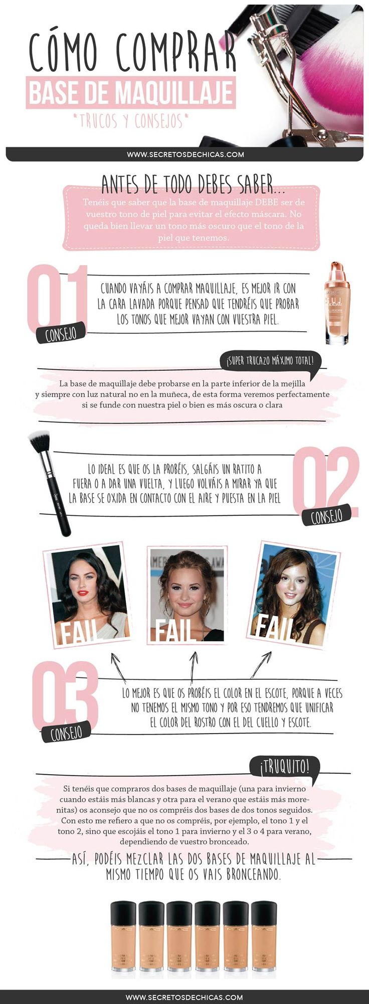 Cómo comprar tu base de maquillaje