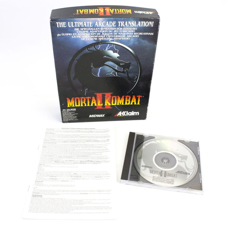 Mortal Kombat II for PC by Midway Games, 1994, Fighting, Arcade, Action