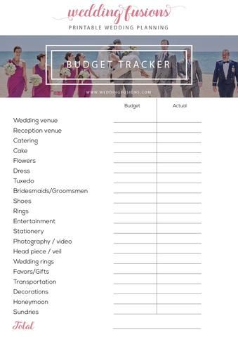 Download a free wedding budget tracker from the freebie section! An essential wedding planning tool to help you track wedding costs and remain within budget.