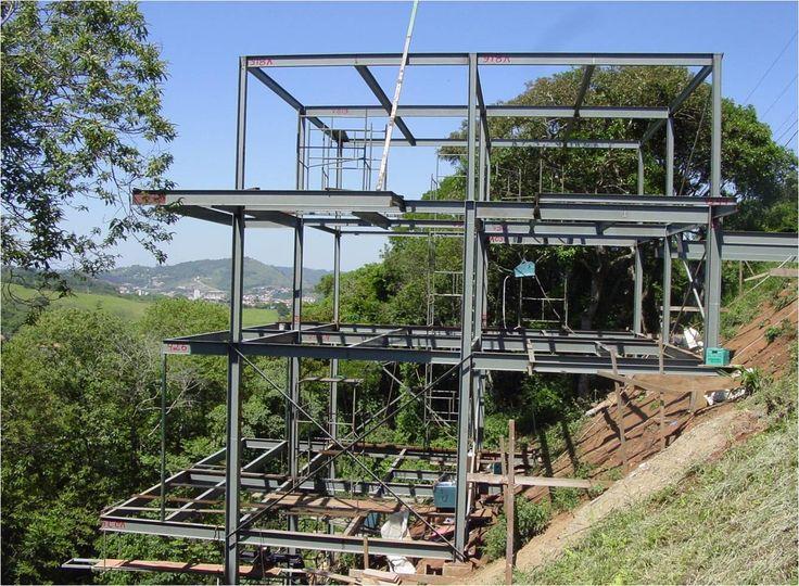 Estrutura metalica casa da gabi e do m pinterest ems - Estructura metalicas para casas ...