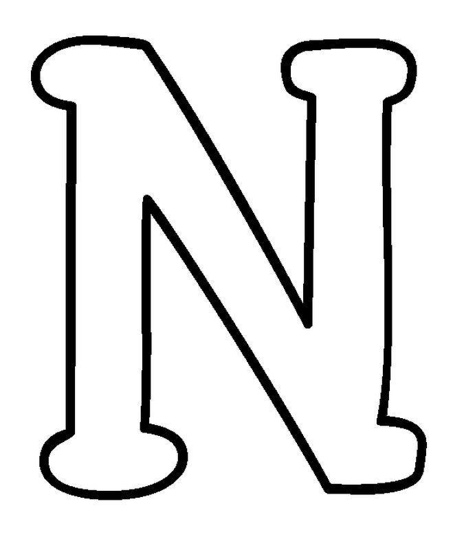 LETRA N MOLDE LETRA N | Moldes | ABC ❤ LETRAS ♡♡♡ | Pinterest ...