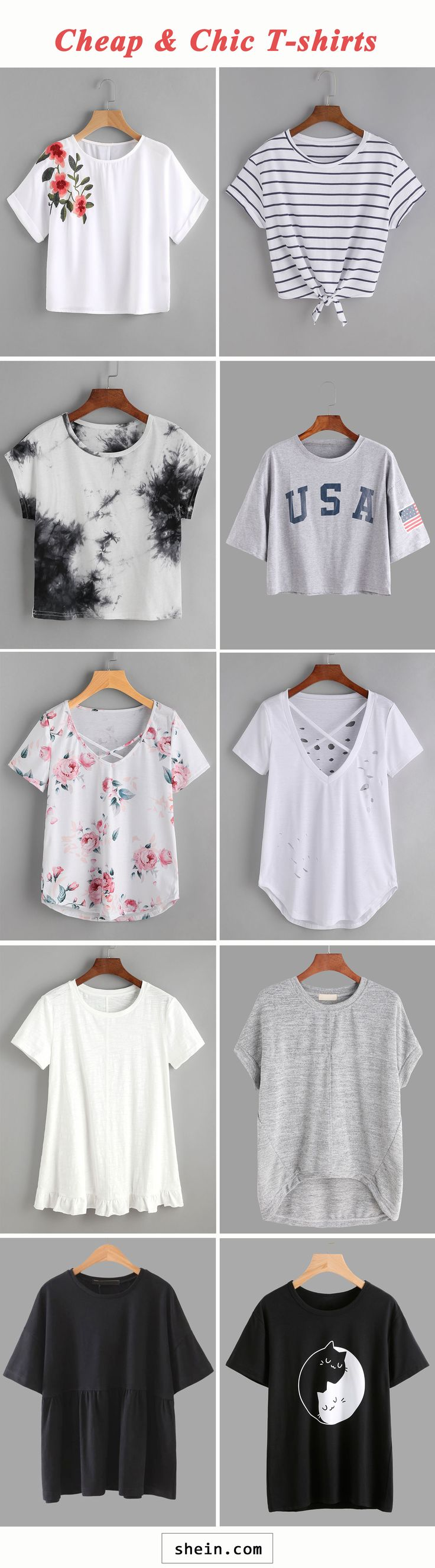 Cheap and chic T-shirts