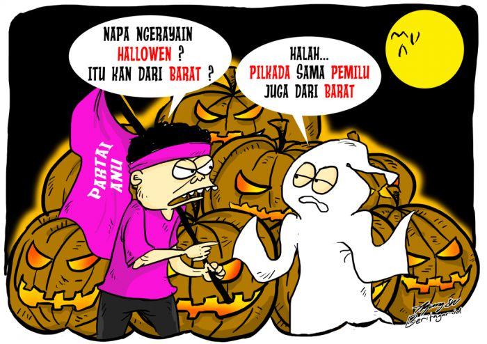 BARAT, ASING   Kita perlu merenung apa sajakah yang asli bin asali di negeri ini padahal nama Indonesia juga asing. Sekian lama perayaan Hari Valentin dipersoalkan, lalu entahlah dengan perayaan Halloween.
