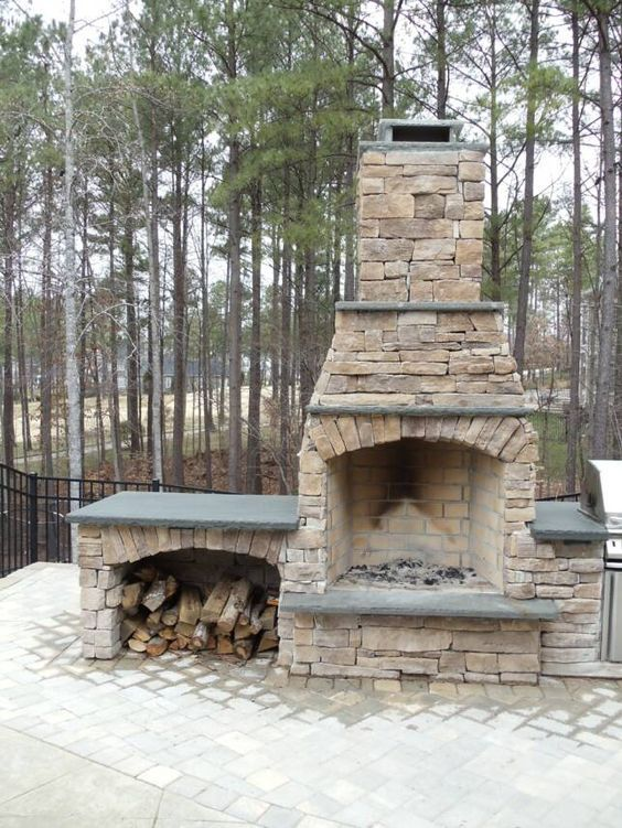 outdoor fireplaces | The amazing outdoor fireplace designs in every rooms : Stone  Fireplace . - 17 Best Ideas About Outdoor Stone Fireplaces On Pinterest