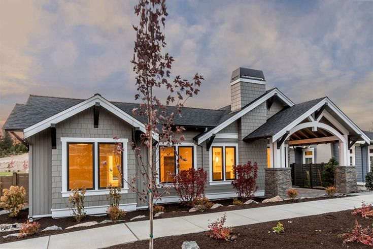 Add a basement and it's perfect. Craftsman Exterior - Front Elevation Plan #895-82 - Houseplans.com