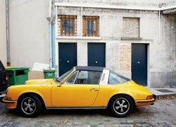 Yellow porche reminds me of a bumble bee