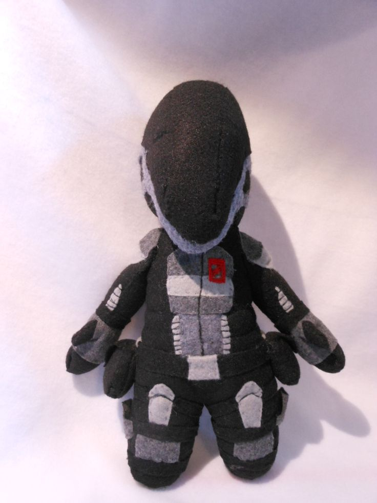 Zero from Borderlands 2 felt plushie. Check out my etsy shop, Fuzzy Aliens
