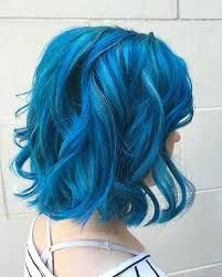 Image result for short wavy blue hair