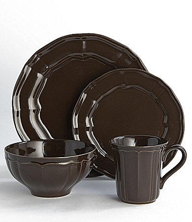 "Noble Excellence ""Toscano"" Brown Dinnerware 