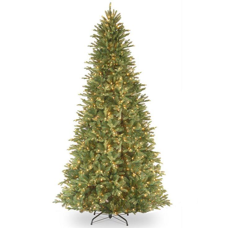 12-ft. Pre-Lit ''Feel-Real'' Tiffany Fir Artificial Christmas Tree, Green