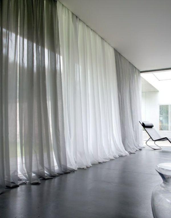 16 besten Gardinen Bilder auf Pinterest Innenarchitektur - schiebegardinen kurz wohnzimmer