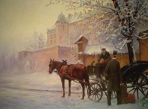 ZIMOWA DOROŻKA - Kraków obraz