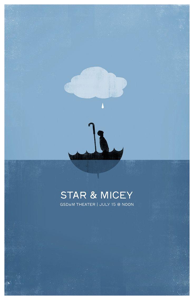Star & Micey poster design by Robert Lin