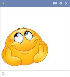 Dreamer emoticon with dreamy expression #facebook_emoticons #Emoticons #facebook_symbols_and_chat_emoticons