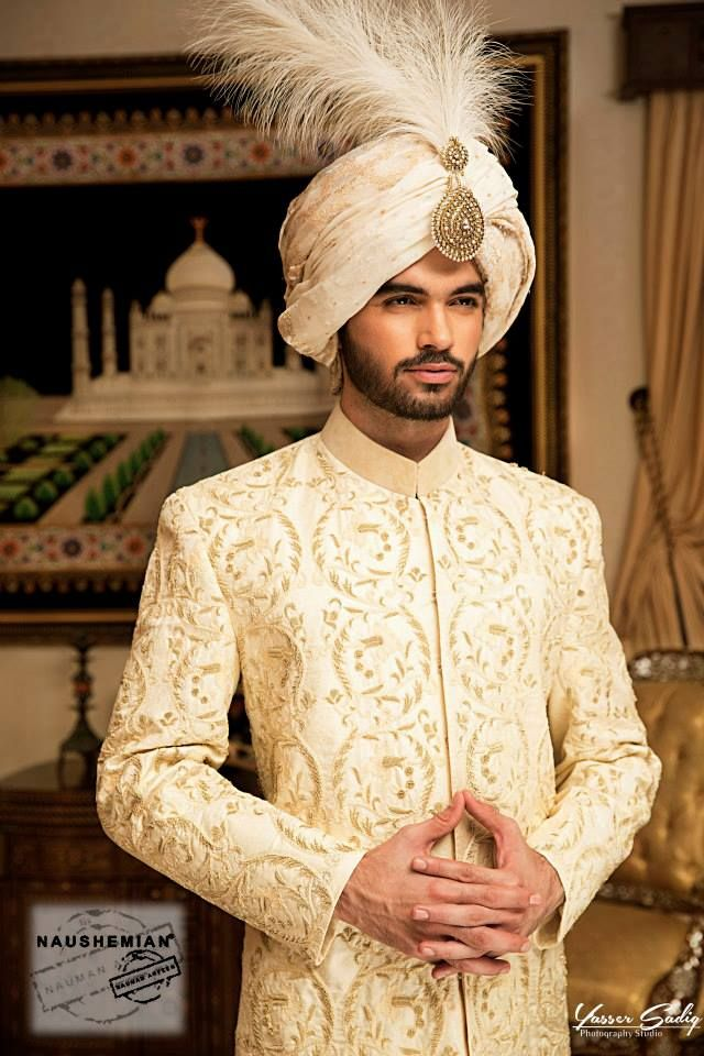Nauman Arfeen Groom Wedding Sherwani Collection 2015-2016 (16)