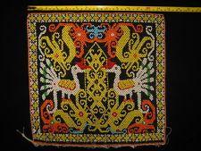 KB02# Kenyah Cultural Tribal Bead Work / Panel Dayak Kalimantan Borneo