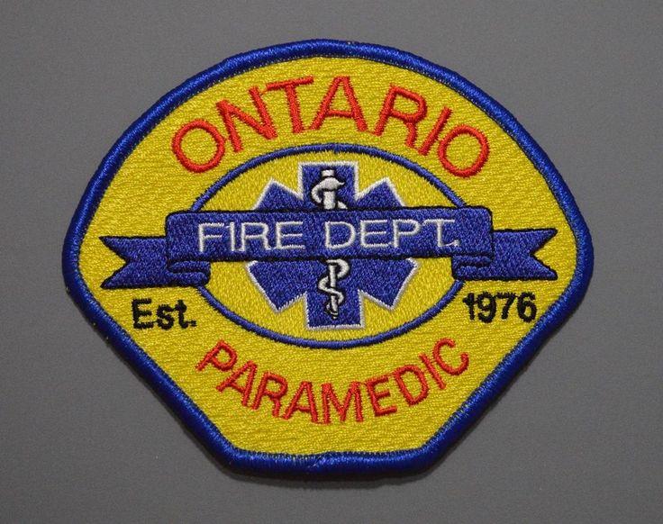 Ontario california fire dept paramedic patch san
