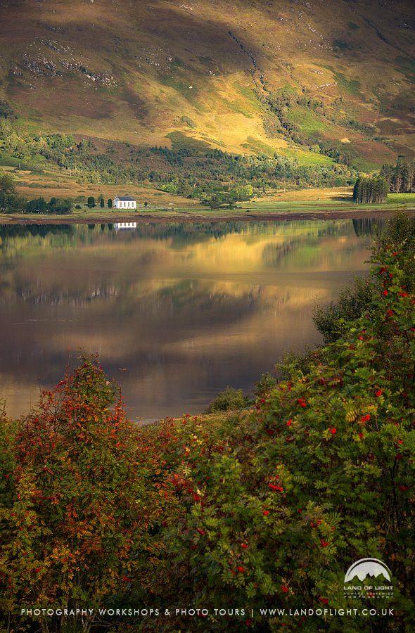 Loch Carron & Church in Wester Ross, Scotland