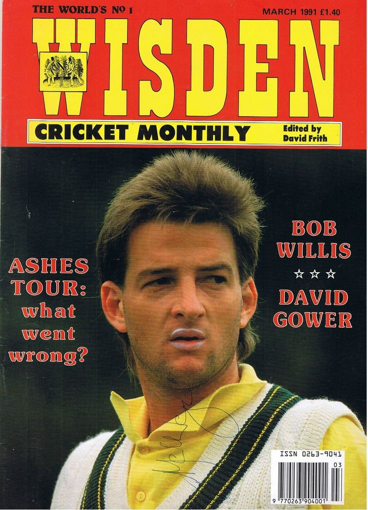 Wisden Cricket Monthly - March 1991 -Signed By Mark Waugh - Australia • £1.99 - PicClick UK