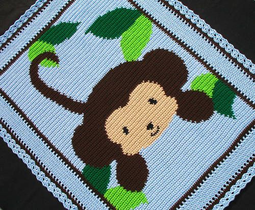 Crochet Patterns Baby Jungle Monkey Afghan Pattern | eBay