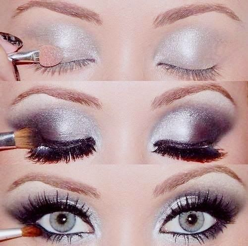 Light blue eyes makeup