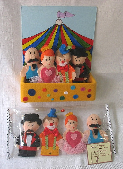 Idea - a circus page with finger puppets...