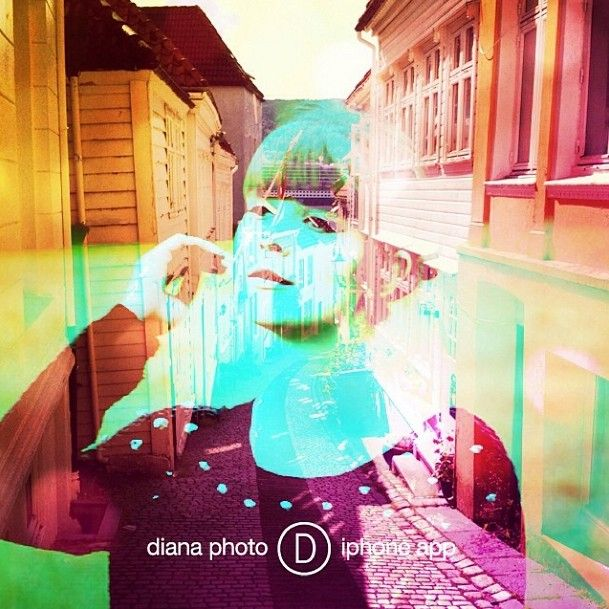 Totally different street view! For this one, I used my UNICORN CHOICE filter - this made my composition very cosy and girly.   Which of my filters would you use to create such a composition? :)  @TheDianasBlog #DianaPhotoApp #photoapp #Diana #photo #doubleexposure #inspiration #camera #blog #gallery #art
