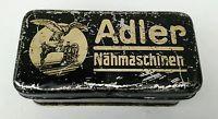 Alte originale Blechdose ADLER Nähmaschinen
