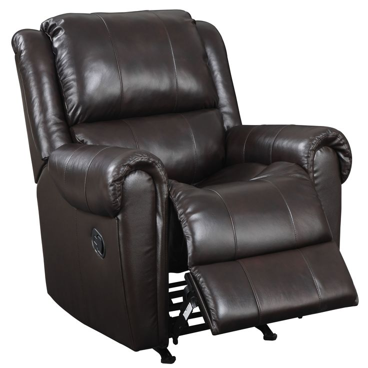 Kick back and relax on this rocker recliner chair from Brody Brown. This sleek chair features attached seat cushions, padded leg support, and sinuous steel springs. Crafted from a hardwood frame, this piece will serve you for years to come.