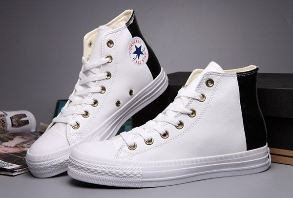 e925a91dbb9  converse Converse Two Tone White Leather Tri Panel Chuck Taylor All Star  High Tops Sneakers