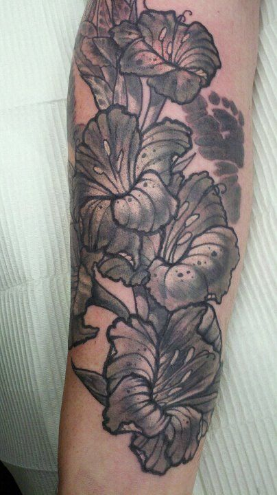 Gladiolus Drawing Tattoo Gladiolus Flower Tattoo