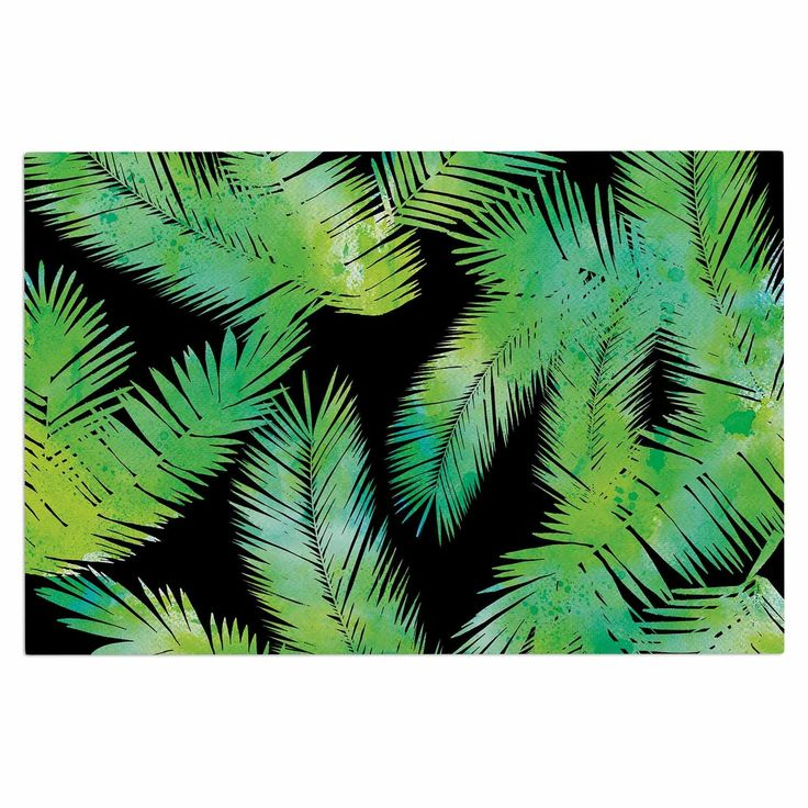 "Draper ""Tropic Green"" Black Nature Decorative Door Mat"