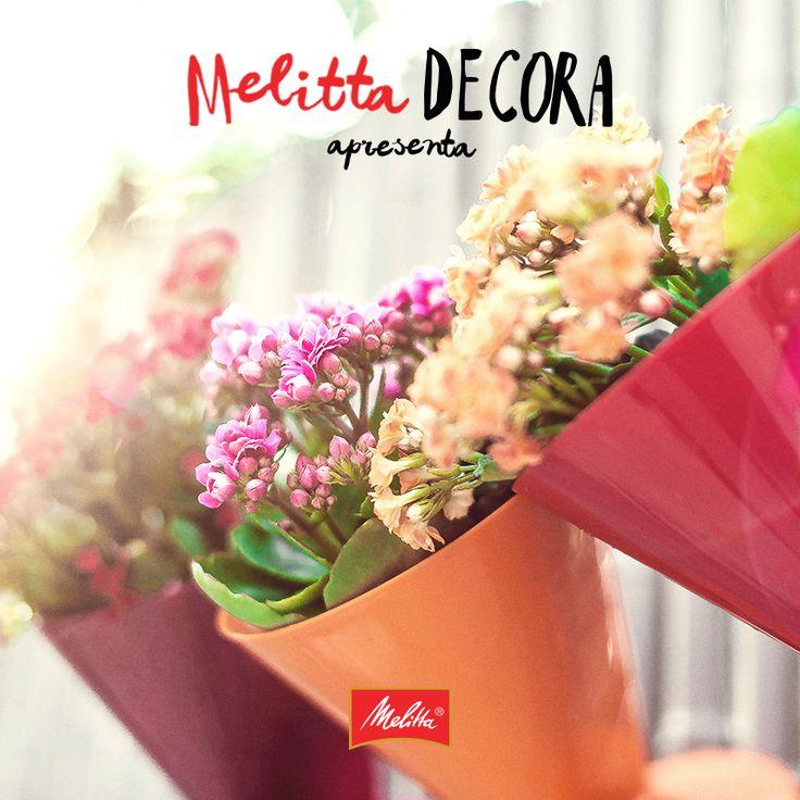 Quer dar um novo uso para seus suportes Melitta? Transforme eles em vasos de plantas. Uma maneira de deixar seu jardim ainda mais colorido!