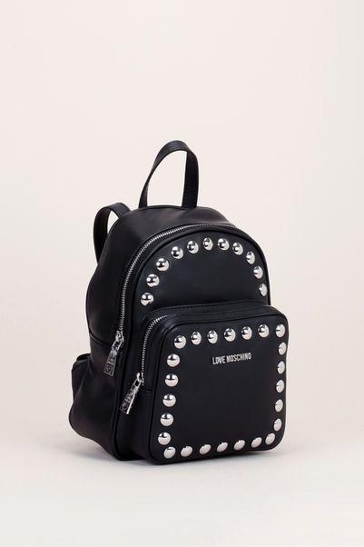 Mini sac à dos noir clouté  2